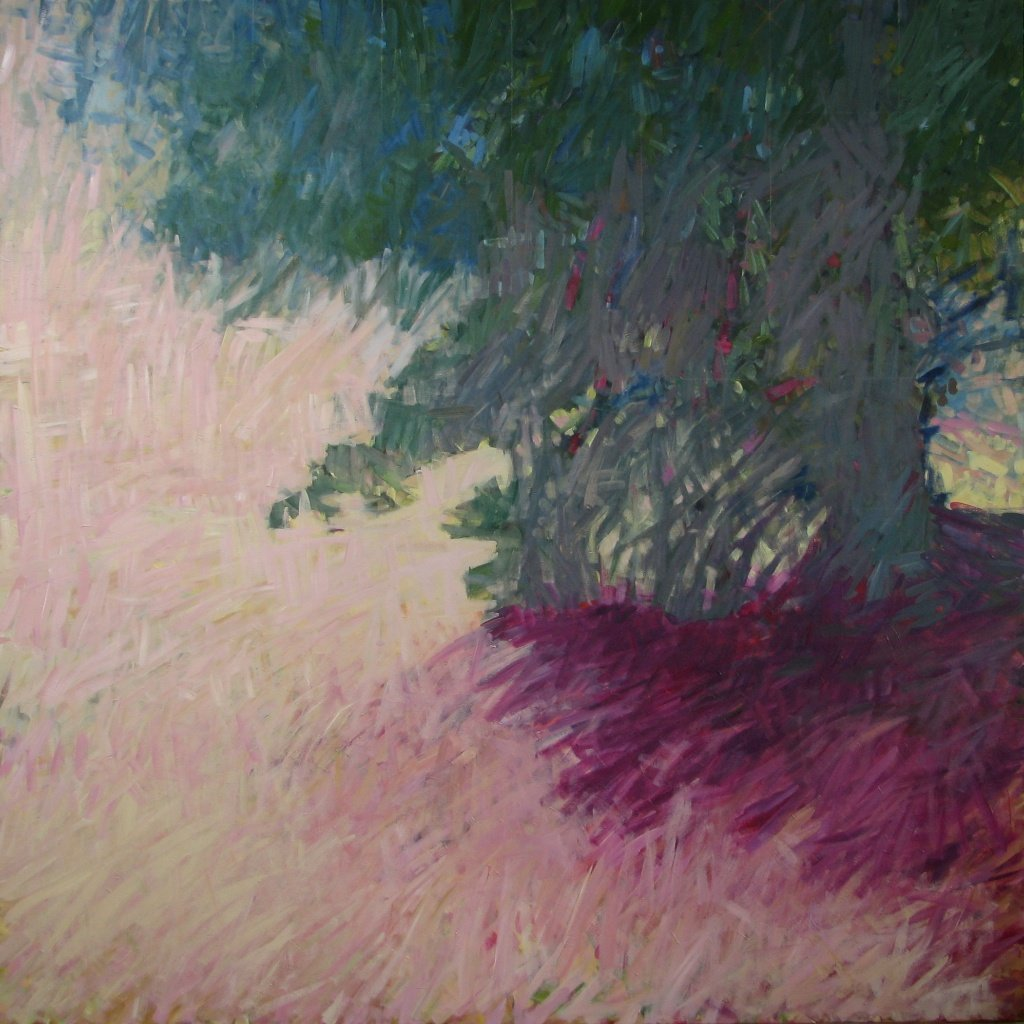 "Still Tree Stills the Shadow, 2014, Acrylic on Canvas, 72"" x 72"""