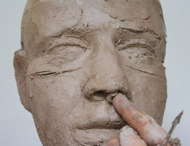 Add clay to othe septum ( the bit between the nostrils)