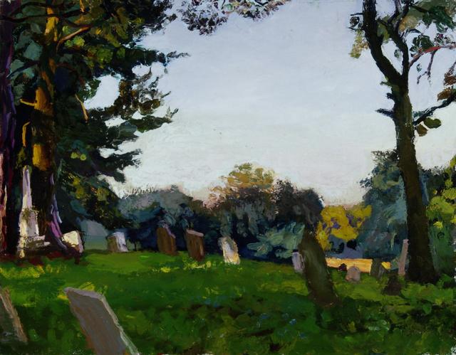 "Quaker Cemetery, Ithaca, 22 x 28"""