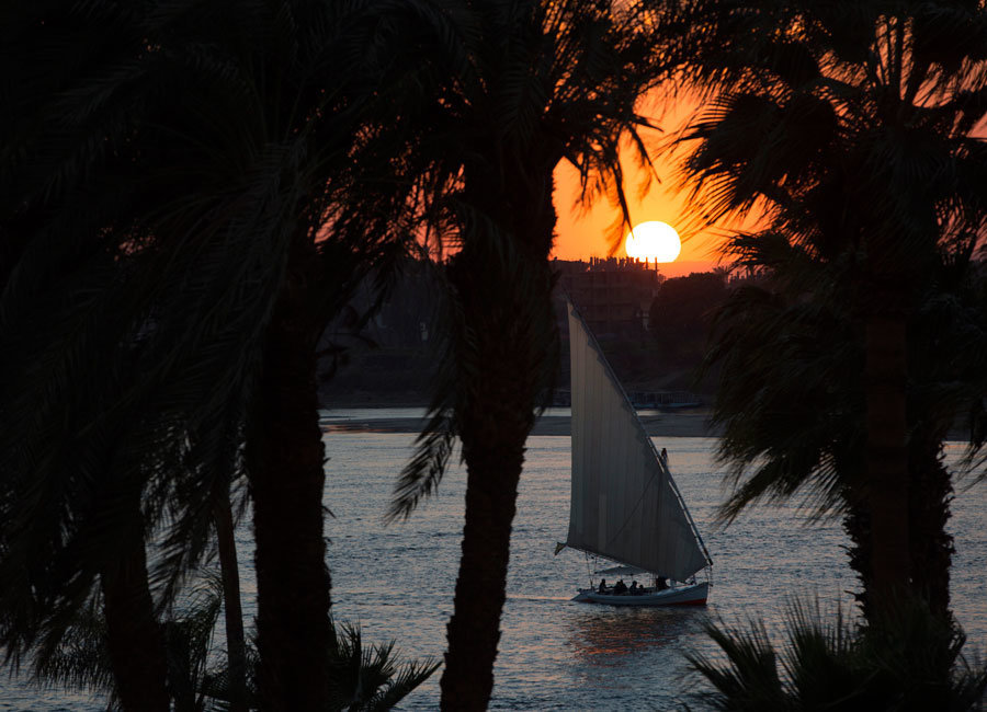 A felucca on the Nile - Luxor