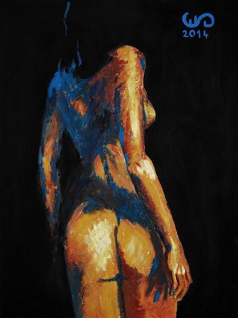 Tenebris z cyklu Lux in Tenebris 80x60 akryl płótno 2014