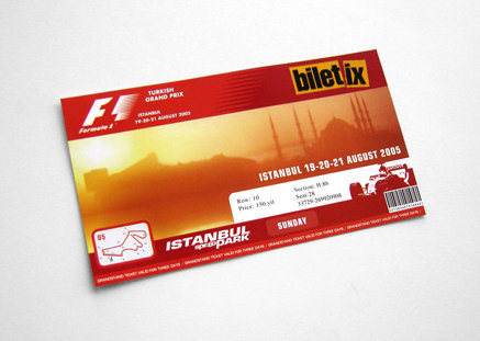 Formula1 Turkish Grand Prix -  F1 Ticket Design