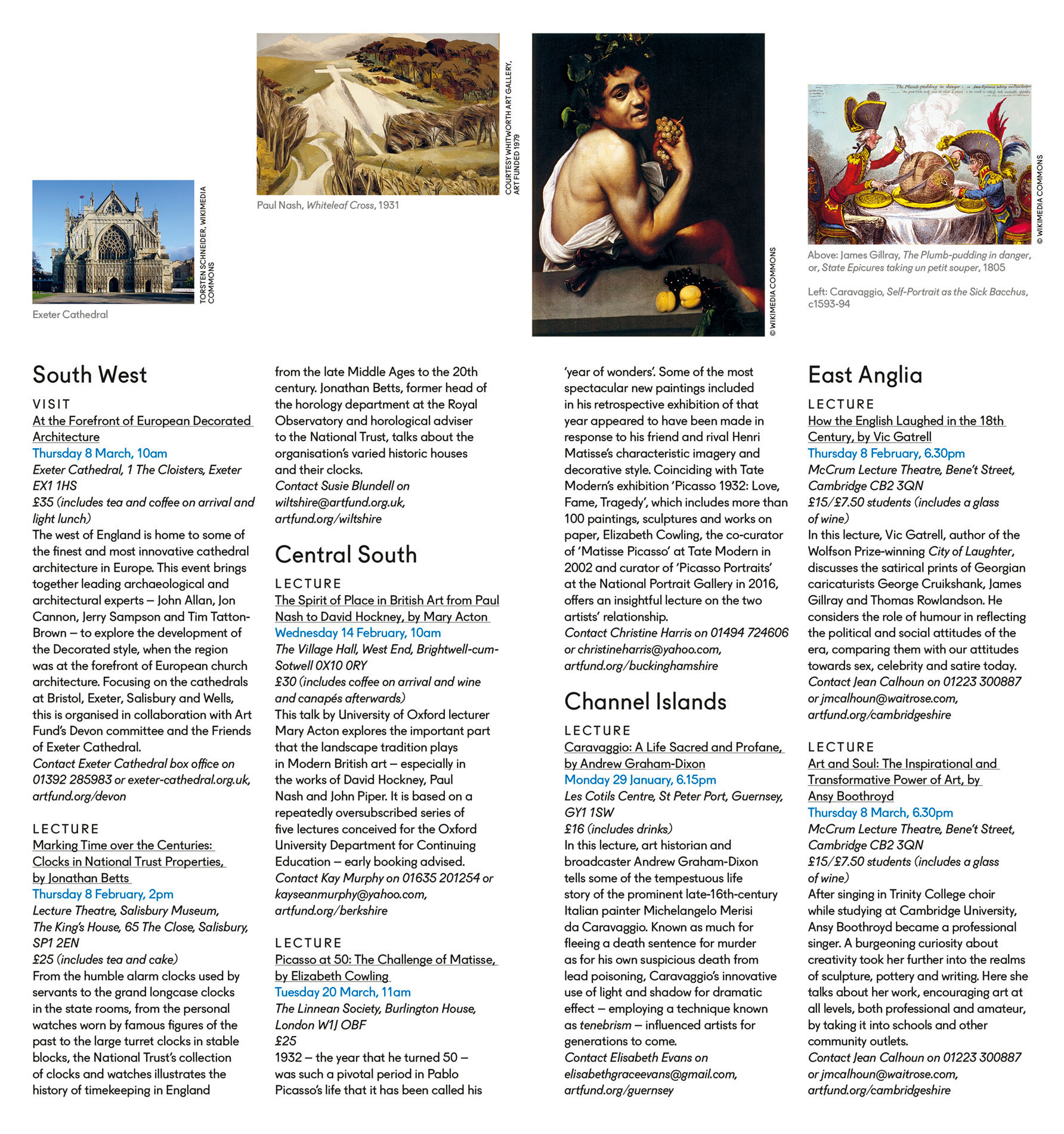 Art Quarterly Events Booklet Winter 2017