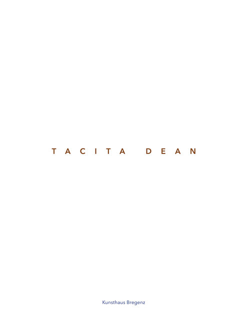 Tacita Dean Catalogue