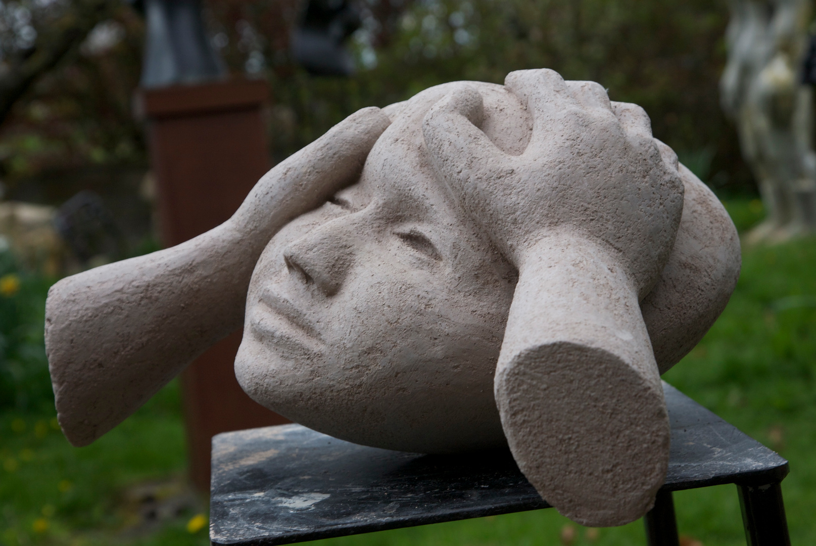 Sculpting a Head  (hands and Head)