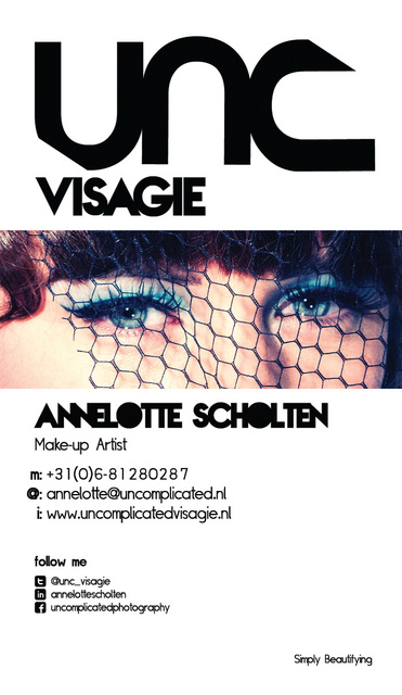 Uncomplicated Visagie Businesscard