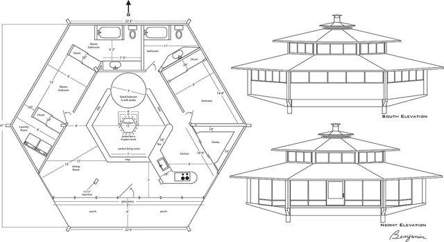 """Hana House,"" a sustainable home design for artist Doze Green on the island of Maui at Hana, Hawaii"