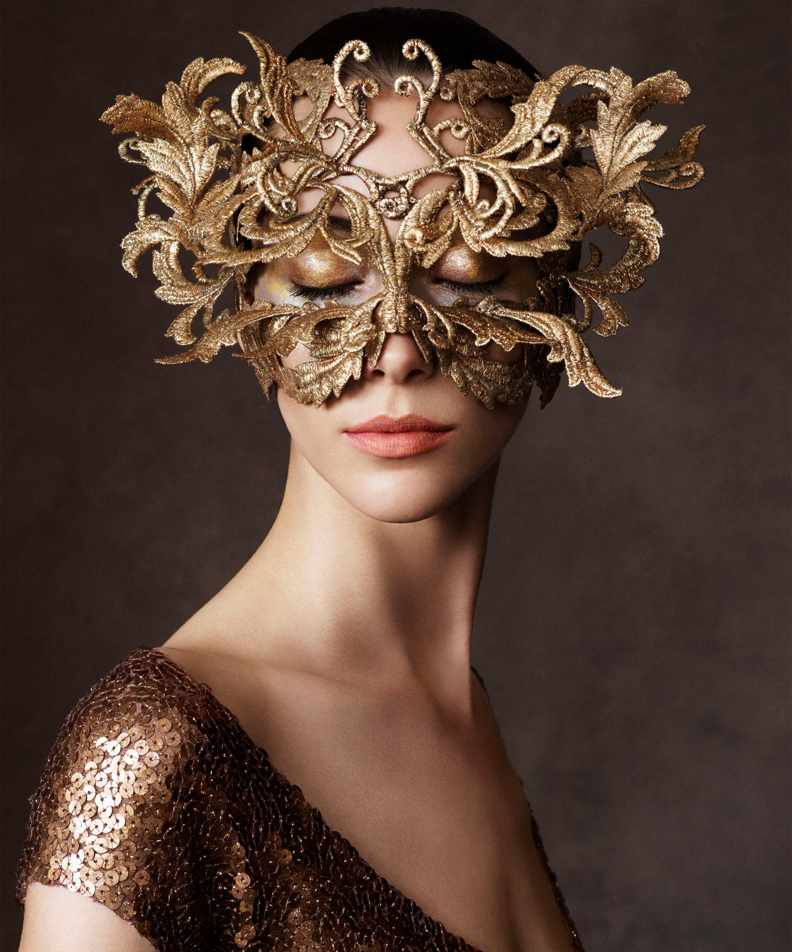 Harper's Bazaar. Alana Zimmer. First You Are Blind Folded..., October 2013