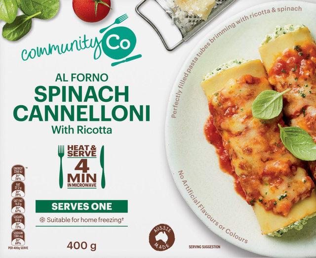 625266 CommunityCo Al Forno Spinach Cannelloni 400g 2.jpg