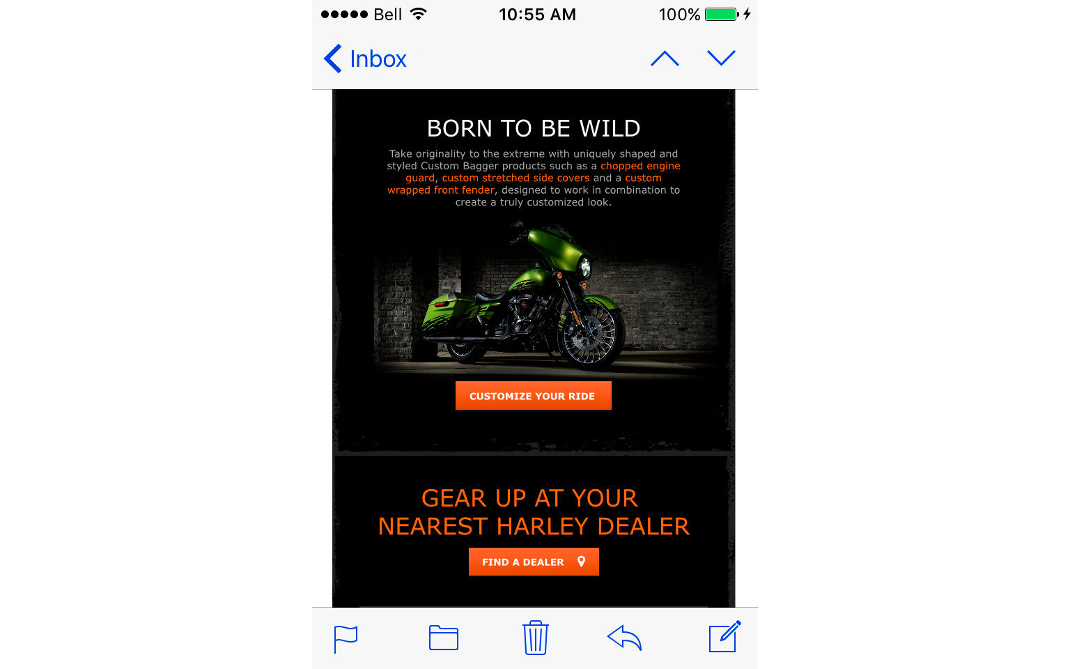 HARLEY-DAVIDSON ACCESSORIES EMAIL  10/10