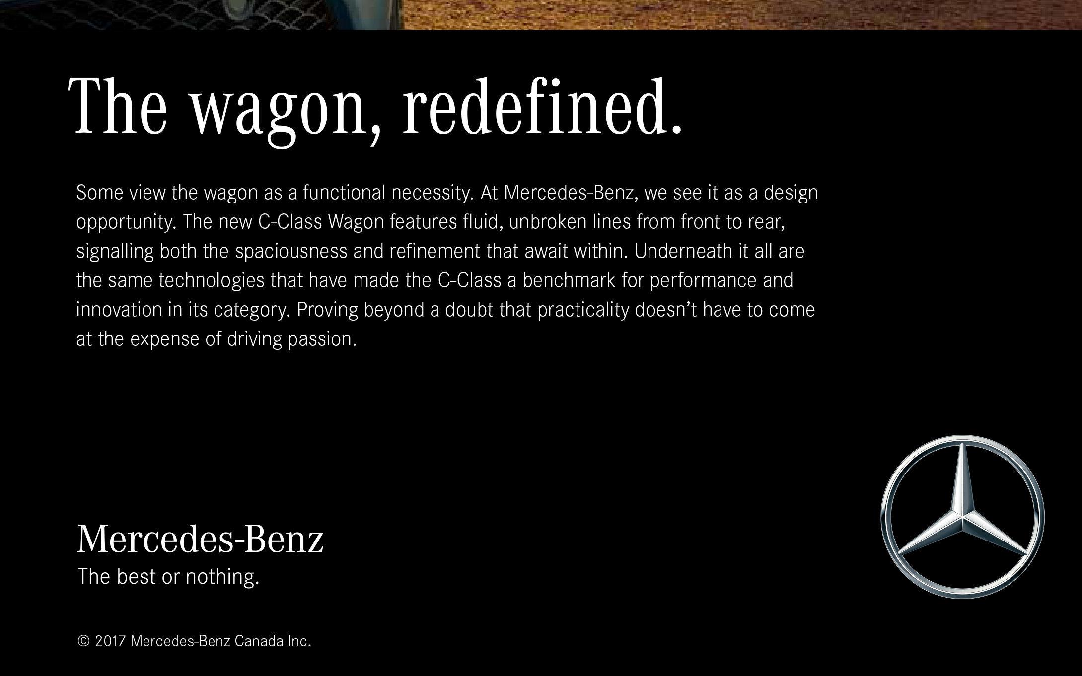 MERCEDES-BENZ C-CLASS WAGON PRINT AD  6/6