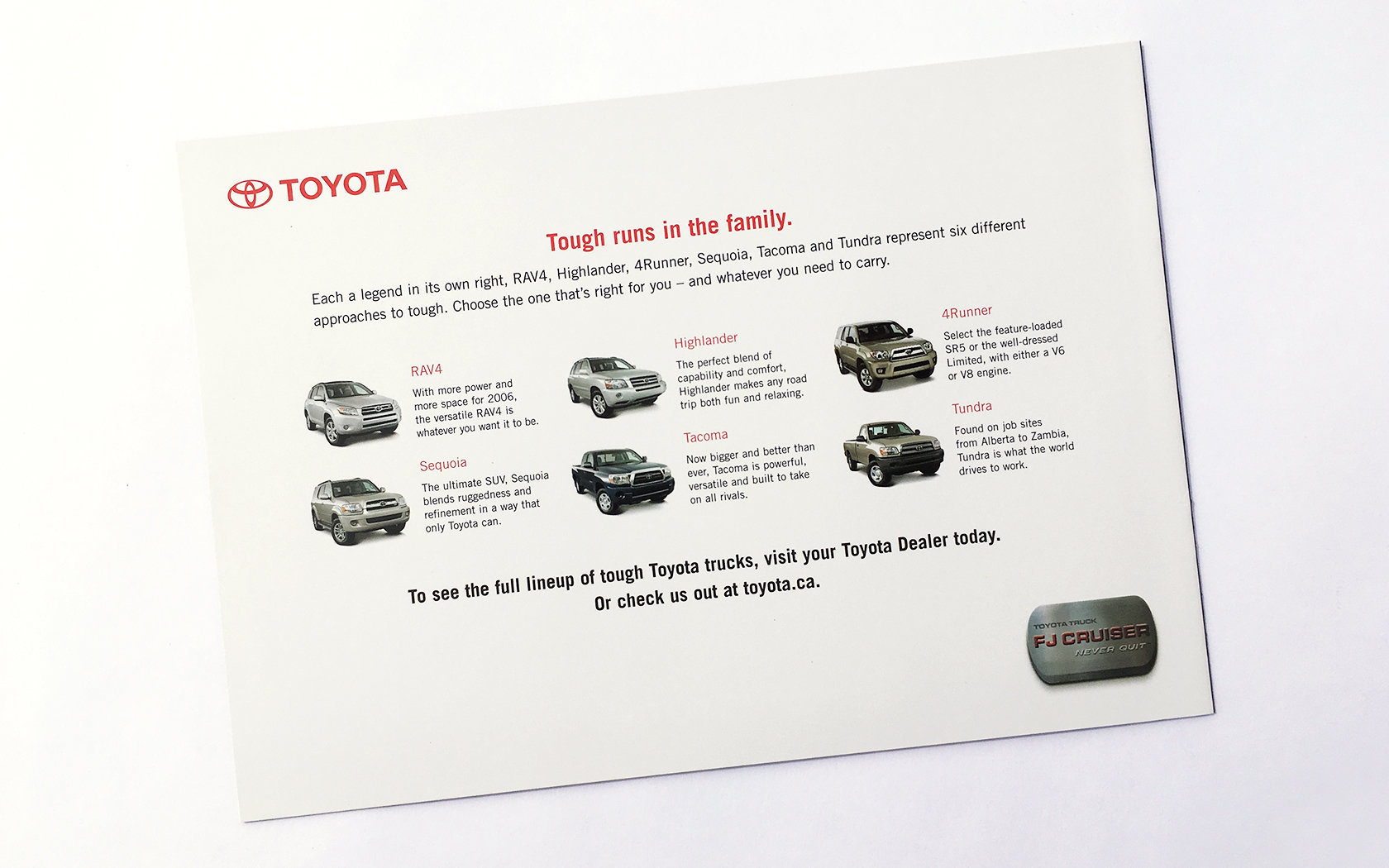 TOYOTA FJ CRUISER LAUNCH DM  11/11