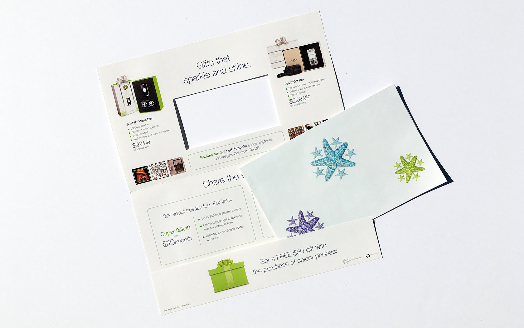 TELUS HOLIDAY DIRECT MAIL  3/4