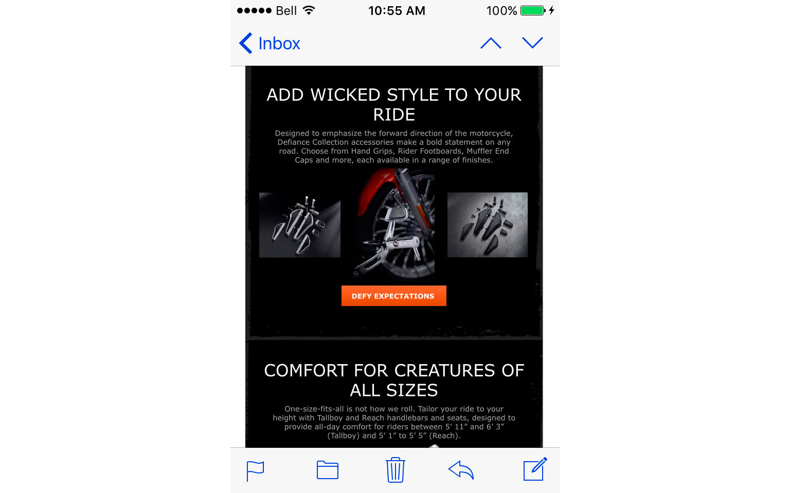 HARLEY-DAVIDSON ACCESSORIES EMAIL  8/10