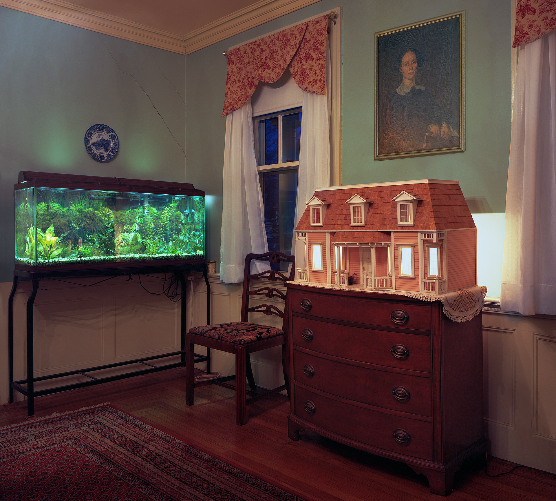 Aquarium and dollhouse, 2016