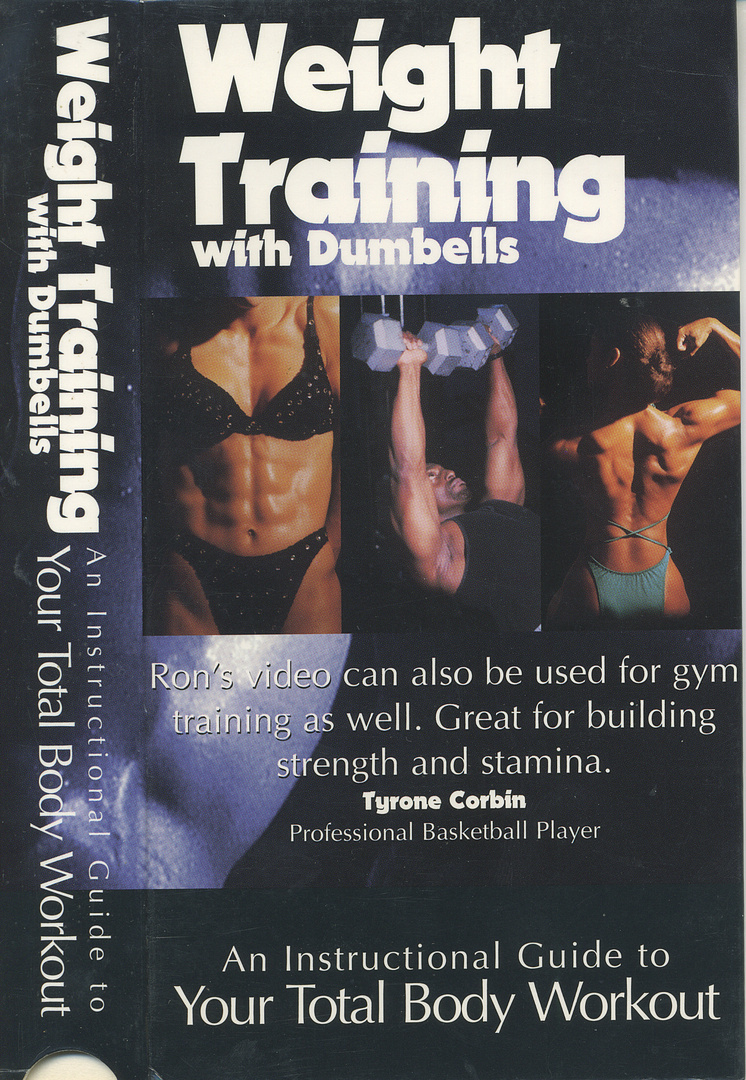 WEIGHT TRAINING with dumbells- front cover