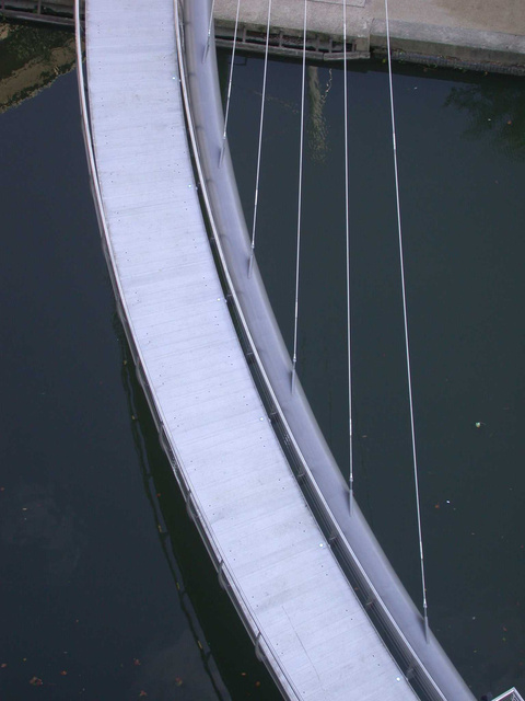 Grand Union Canal Pedestrian Bridge - Detail