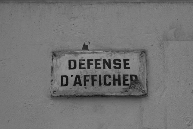 défense d'afficher