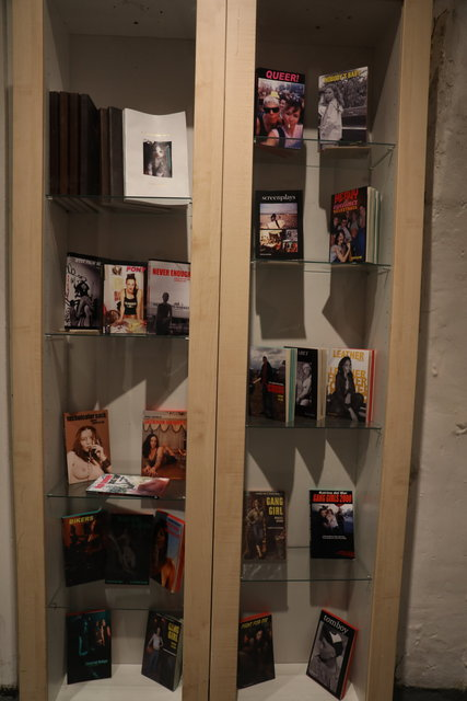 Katrina del Mar: Paperback Books installation view Feral Women Filmed Portraits Prince Street Project Space Leslie Lohman Museum NYC  Katrina del Mar Immersive Exhibition