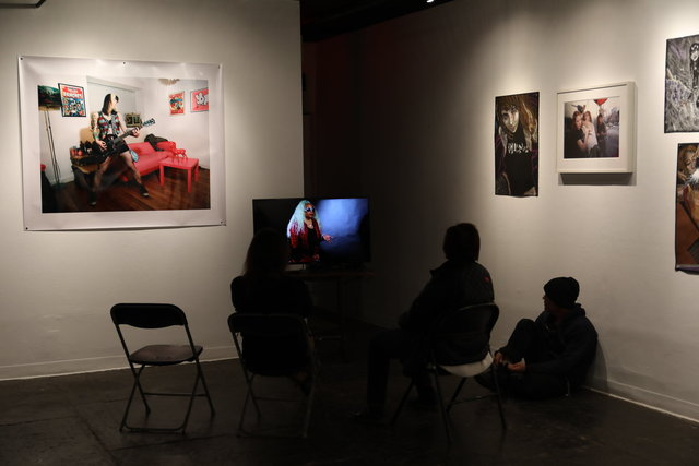Feral Women Filmed Portraits Prince Street Project Space Leslie Lohman Museum NYC  Katrina del Mar Immersive Exhibition