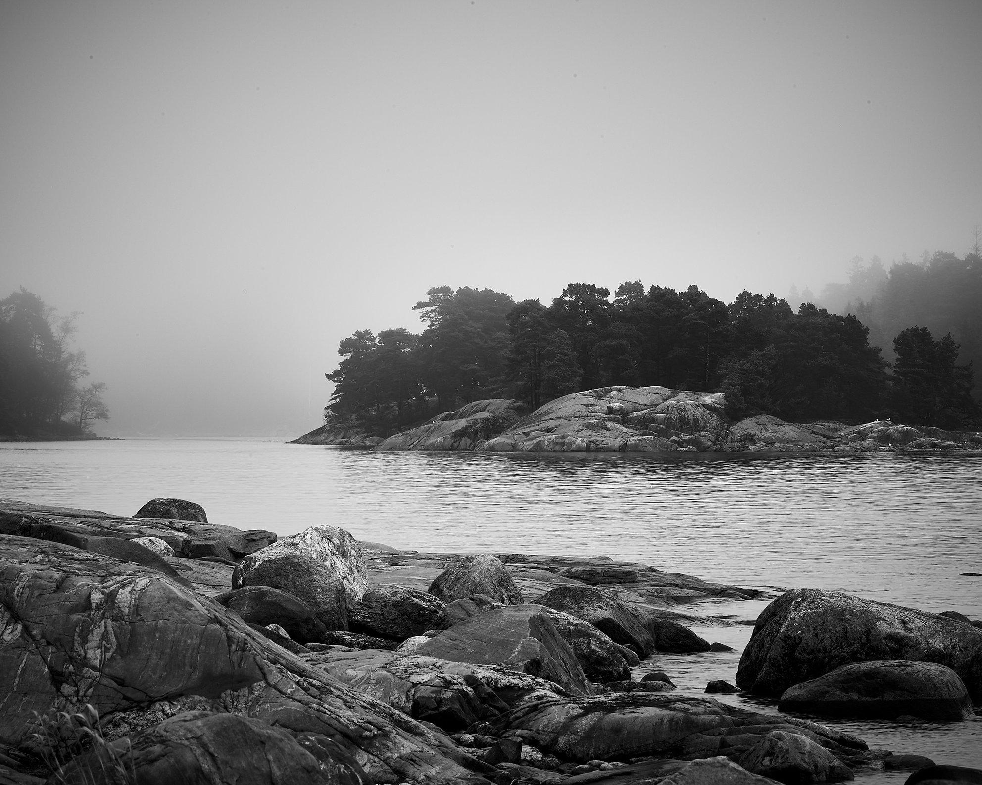 Spring Fog at Porkkala