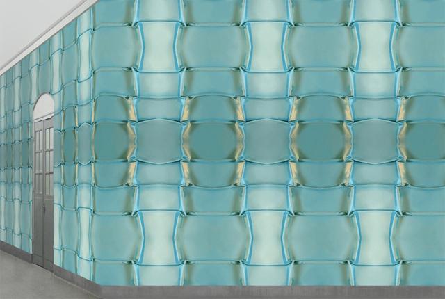 Behang voor Muurbloem Wallfashion; Folds&Pleats