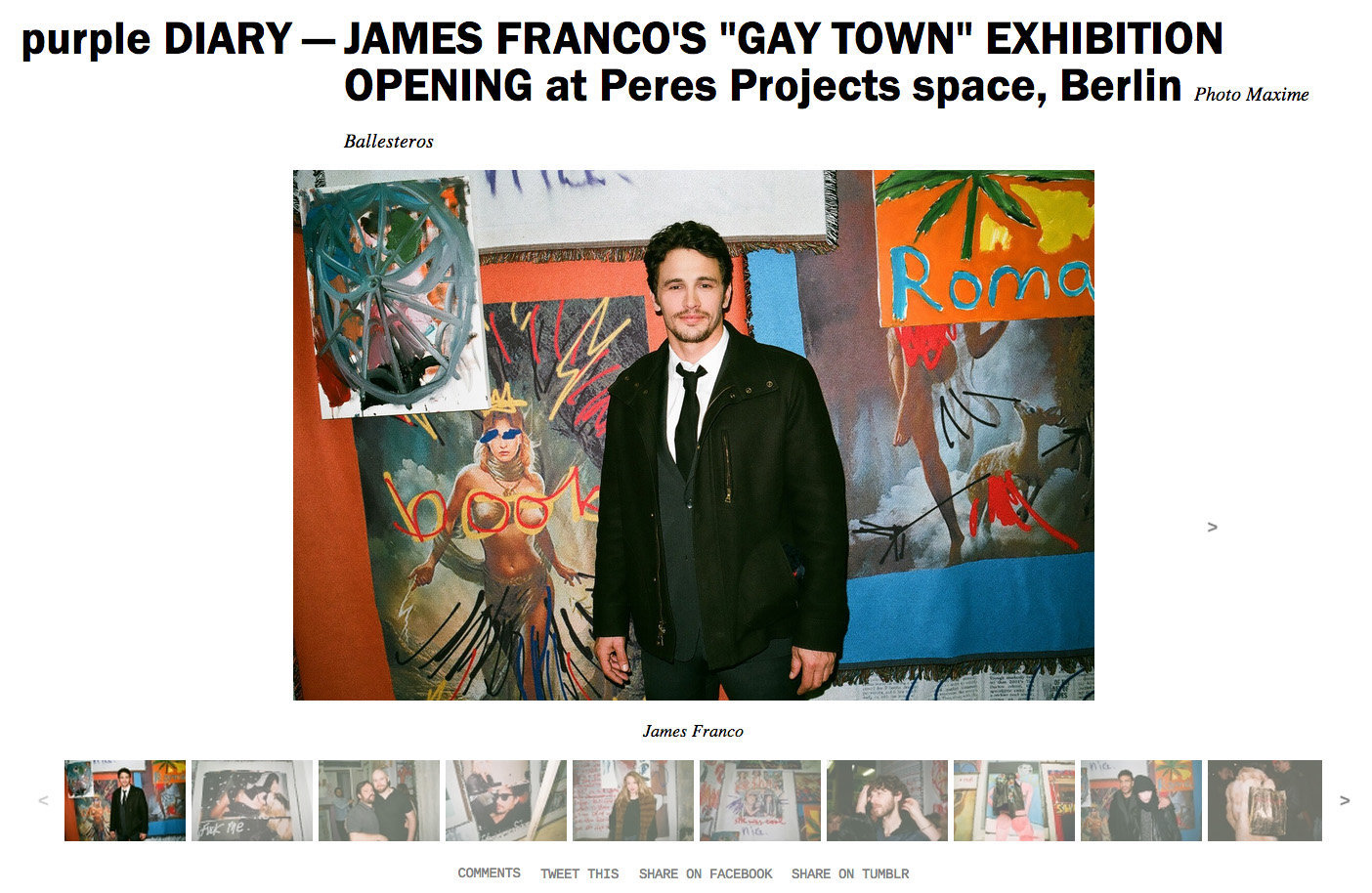 purple DIARY   JAMES FRANCO S  GAY TOWN  EXHIBITION OPENING at Peres Projects space  Berlin.jpg