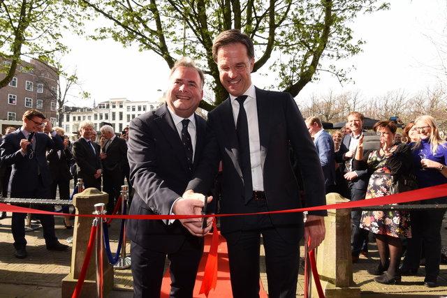 Opnenig Ondernemershuis Den Haag, Mark Rutte en Hans Biesheuvel