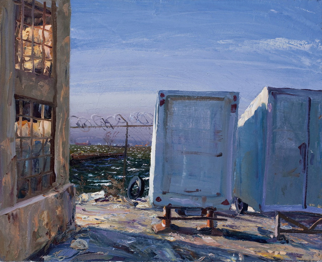 "Trailers- Harborfront, 28 x 32"" sold"