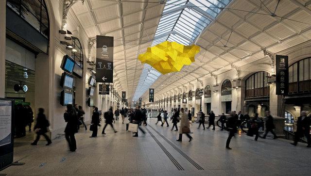 TRIptyque lamp, Saint-Lazare Station, Paris