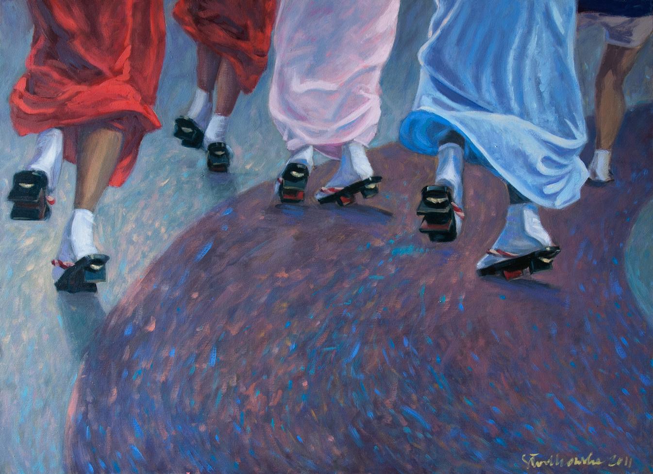 Dansu (taniec), 100x73 olej płótno 2011