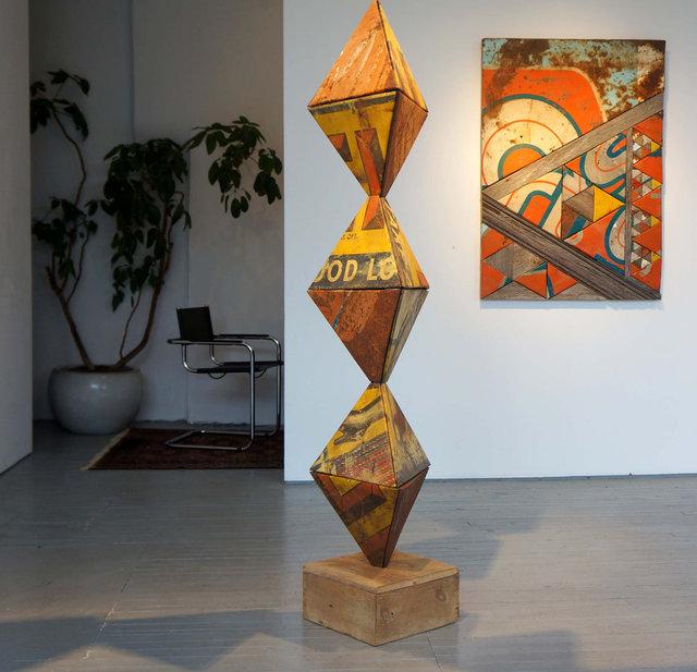 """Tetra Totem"" from ""Myth, Math & Magic"" art exhibition"