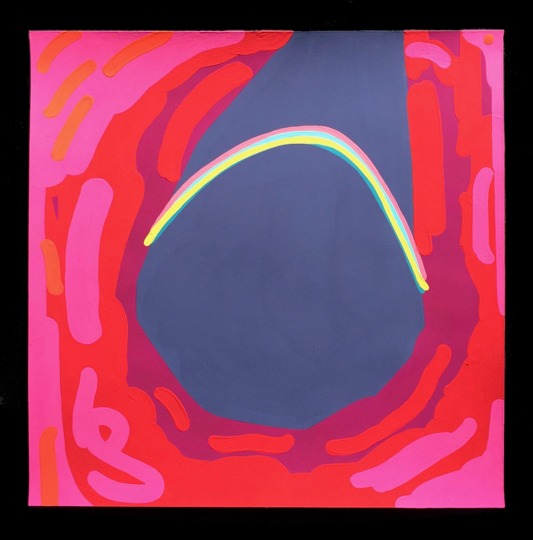 Desire Cave 10, 2017, gouache on paper