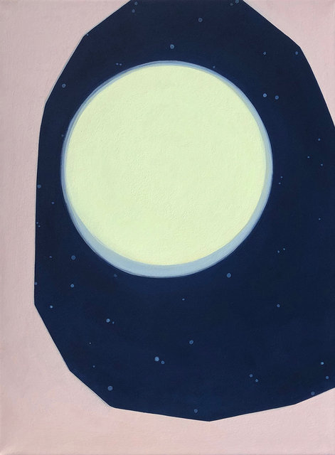 The Mild Glory Of A Rising Moon 2019, gouache on paper