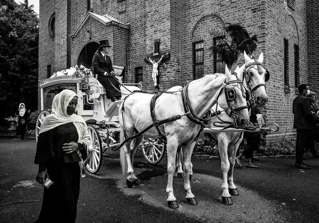 Ethiopian funeral (2), North London