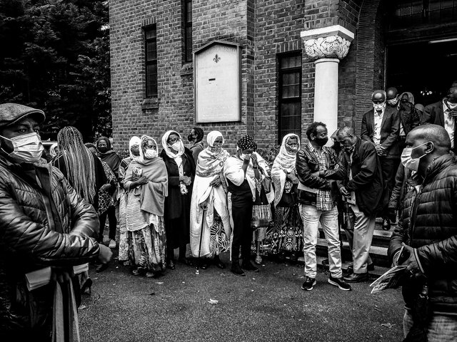 Ethiopian funeral (1), North London