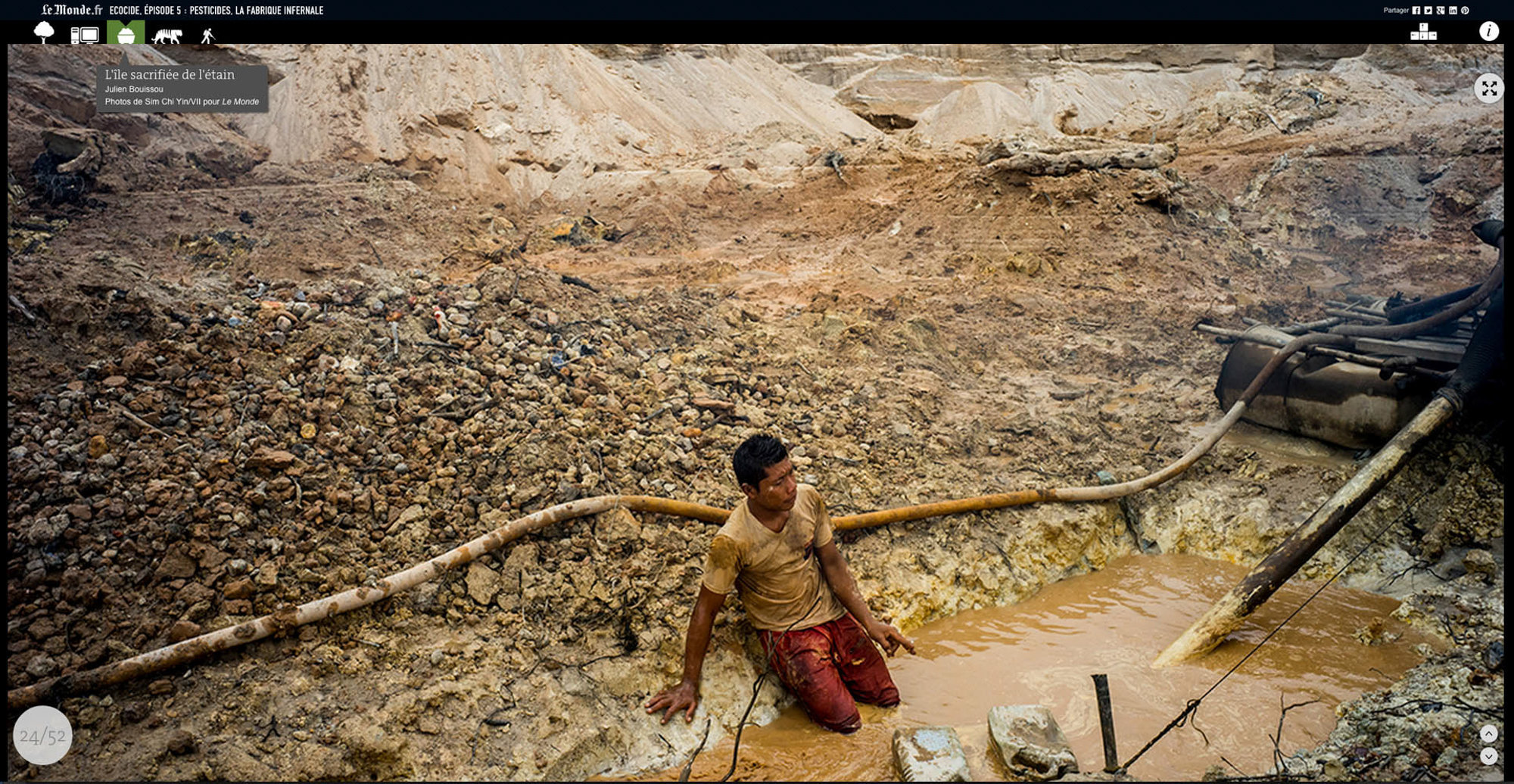 Tin mining, Bangka, indonesia, October 2014, published Le Monde Jan 2015