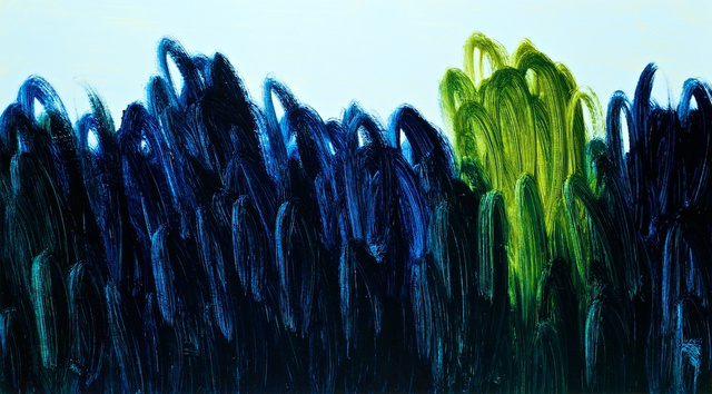 Grass Green and Night Blue over Soft Blue, 2011.