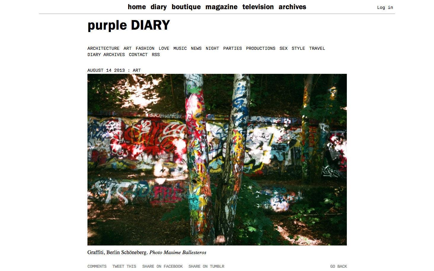 purple DIARY   Graffiti  Berlin Sch ouml neberg. Photo Maxime.jpg