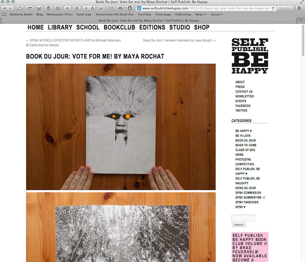 SELF PUBLISH BE HAPPY - BOOK DU JOUR - MAY 2013