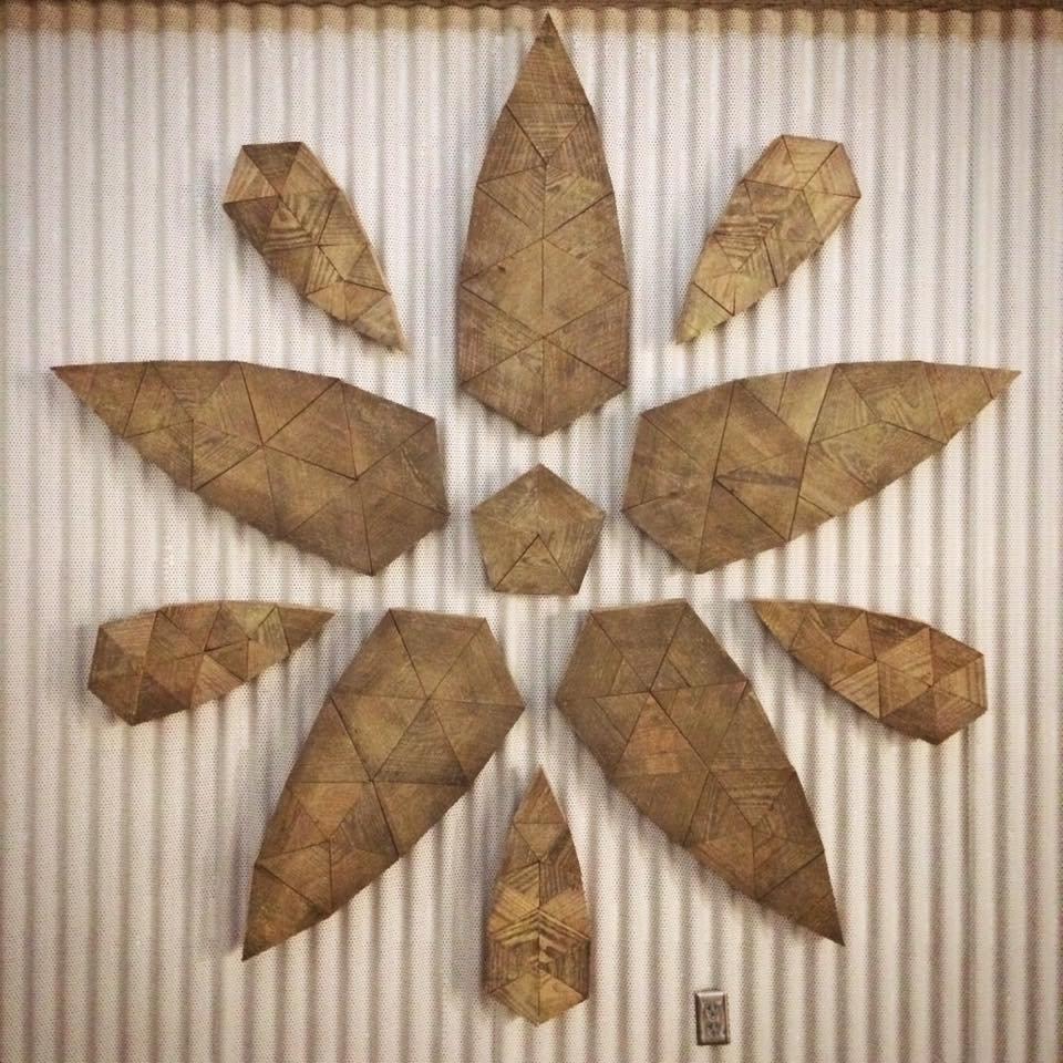 8ft geodesic reclaimed wood mandala