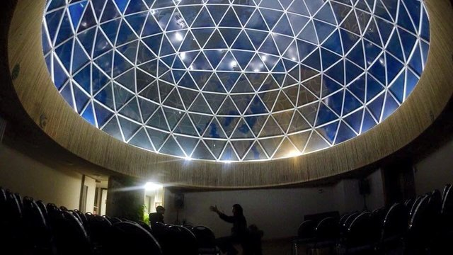Fuller Dome at night