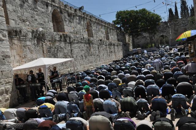Vieille ville de Jérusalem, dernier vendredi du ramadan
