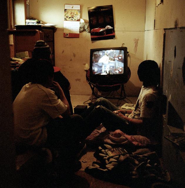 gaming in Albert's room, 2011