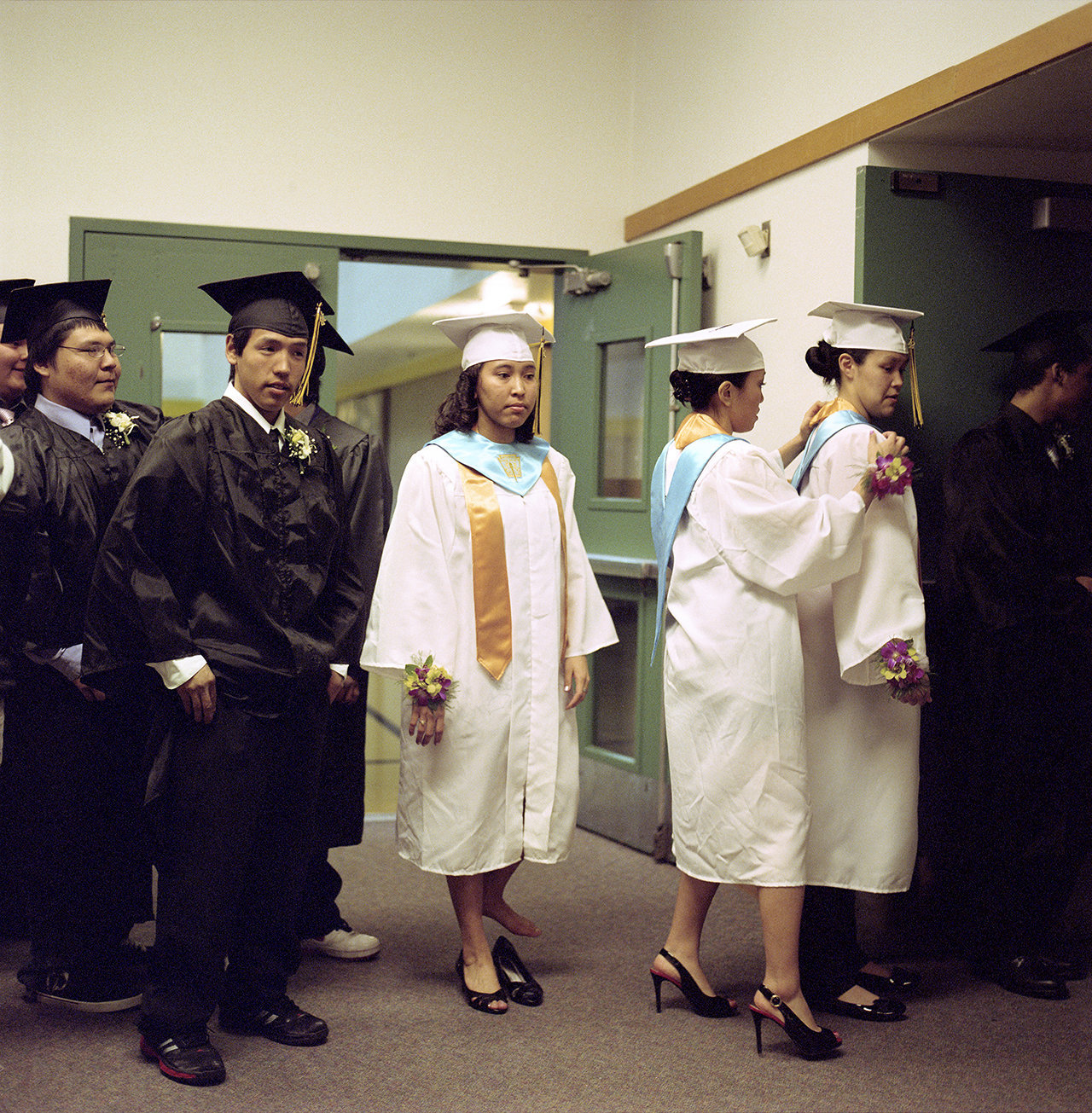 Michael, Ricky, Heather, Caroline and Abby, graduation class 2012