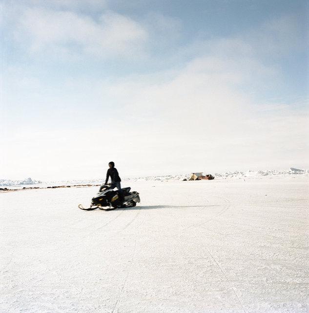 Zach on his snow machine, 2012