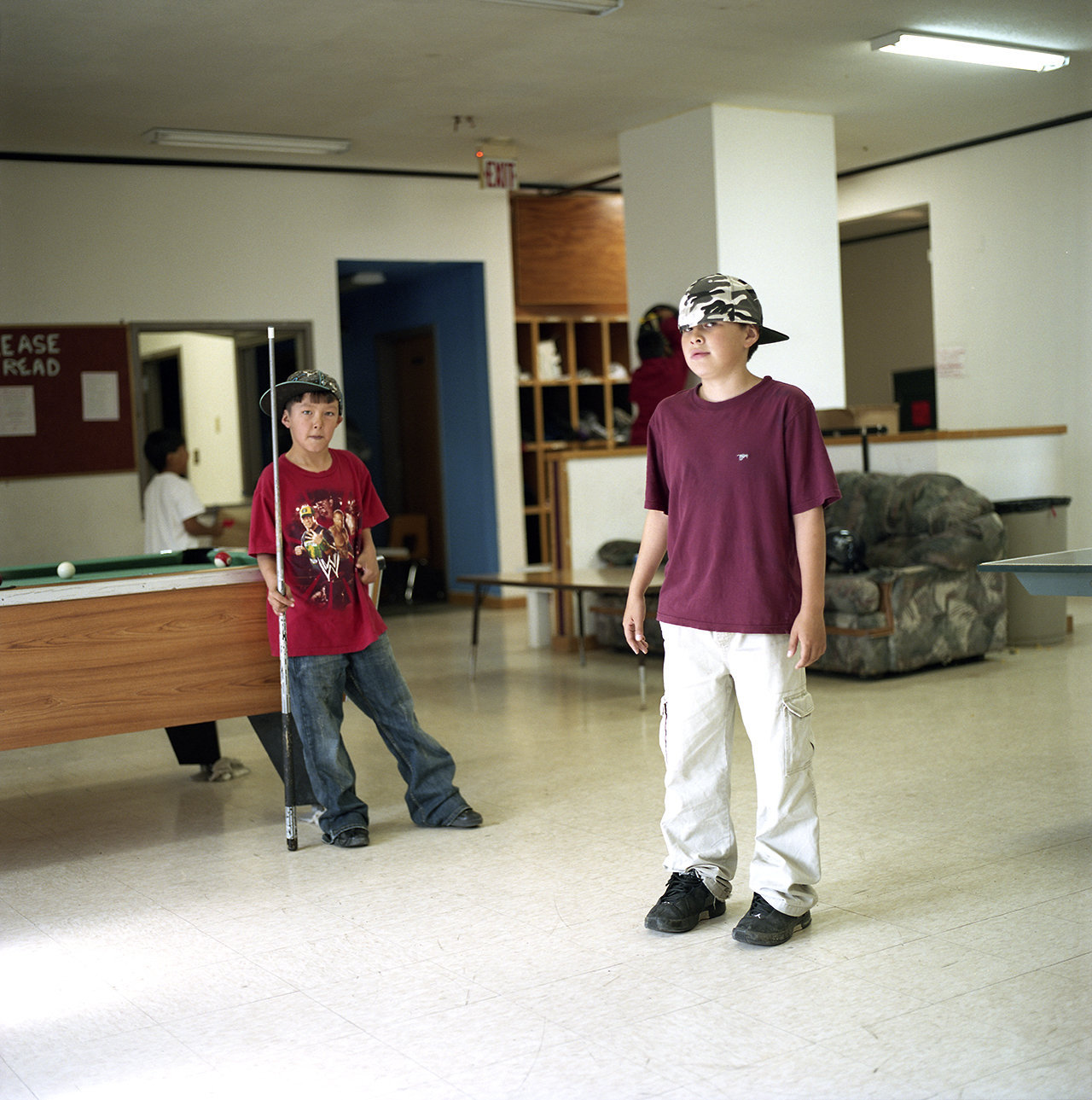 Craig and Mario at the Youth Center, 2010