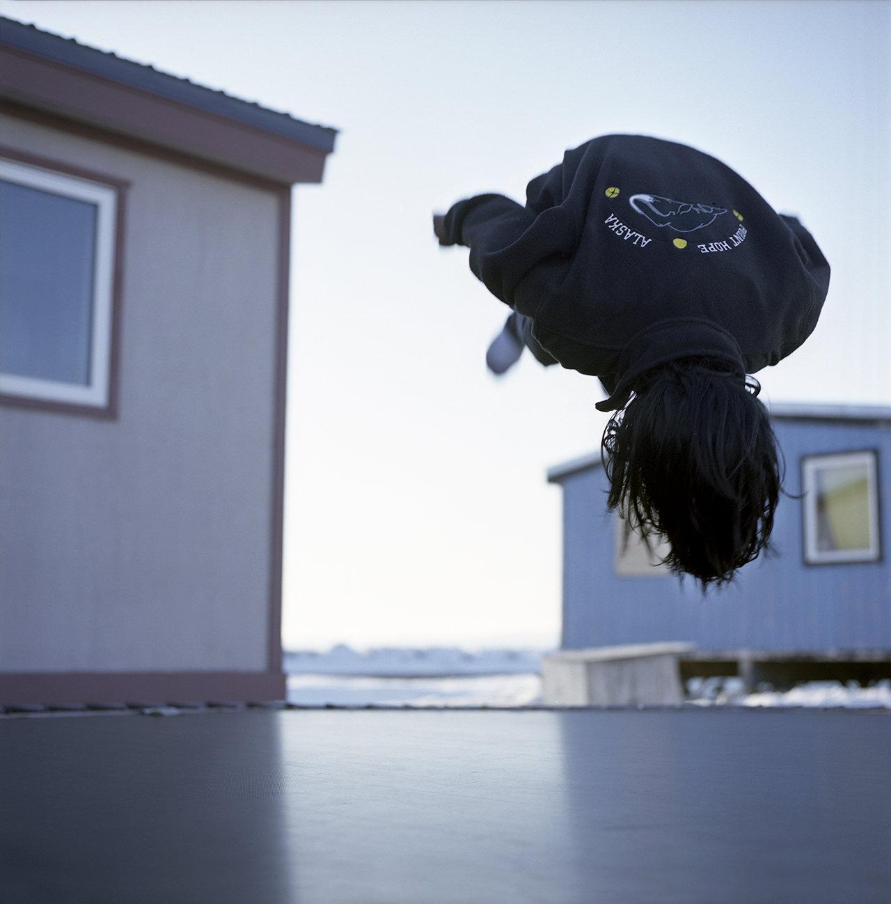Back flip on the trampoline, 2009