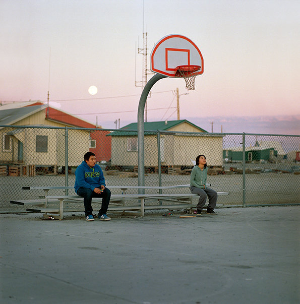 Sam and Jade at the basketball court around midnight, August 2014