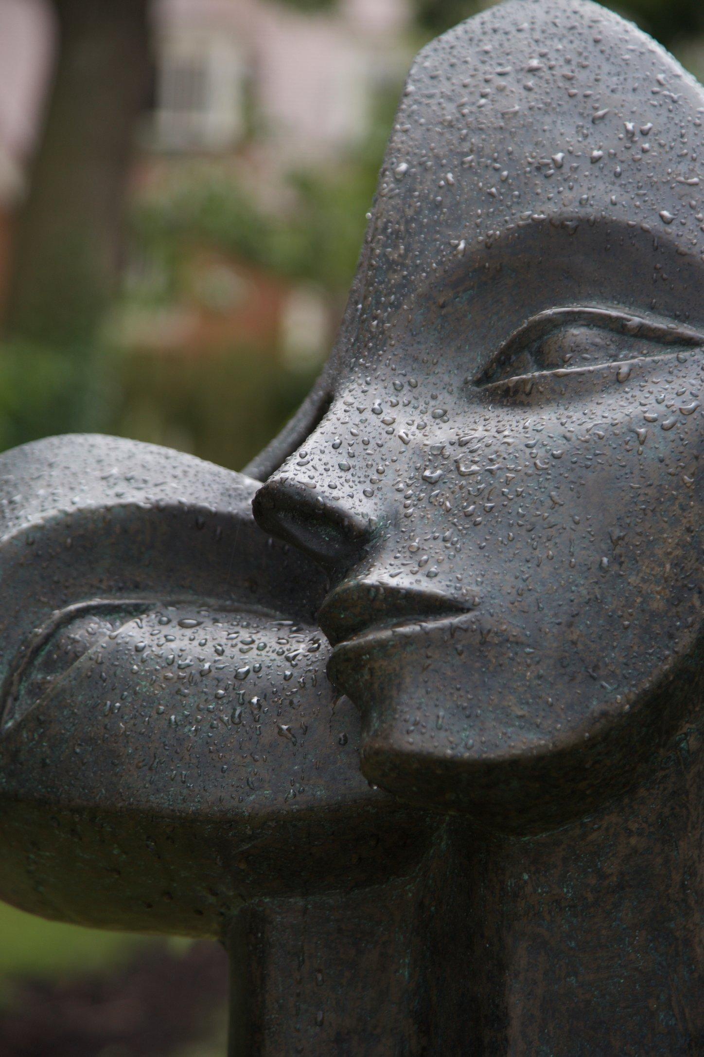 """""""Nurturing""""  2003   66 x 55 x 33cm  Bronze Resin"""